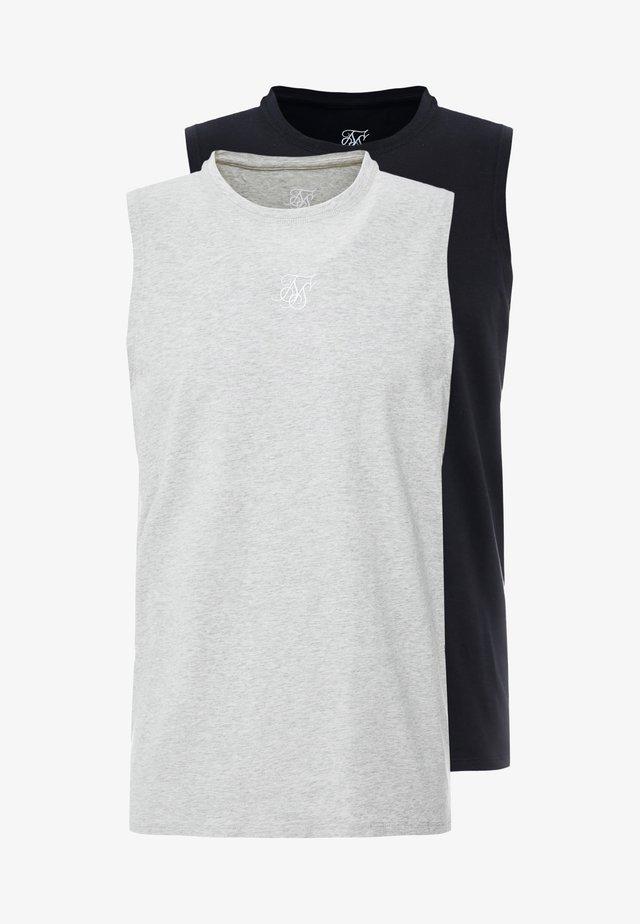 2 PACK VEST - Top - black/grey
