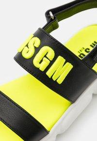 MSGM - Sandals - black/neon yellow - 5