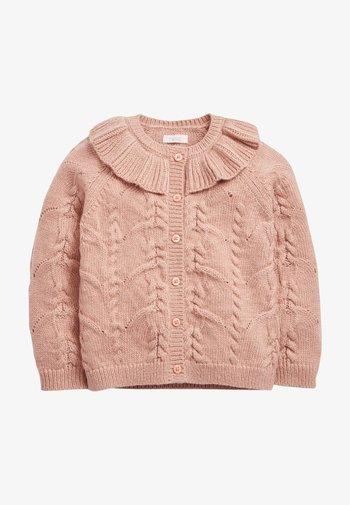 POINTELLE DETAIL COLLAR - Cardigan - pink