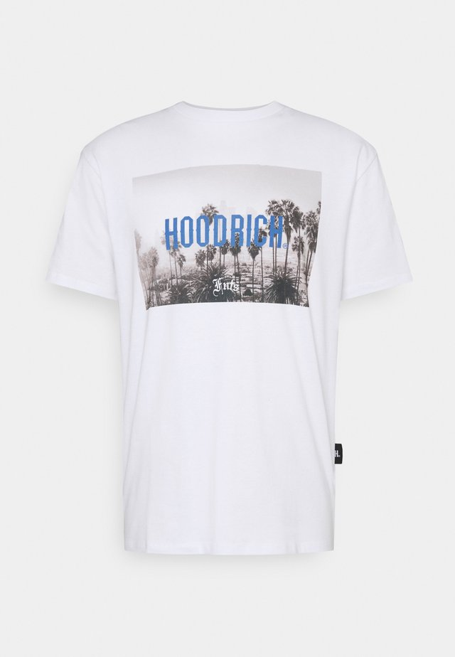 LA DREAMIN  - Print T-shirt - white