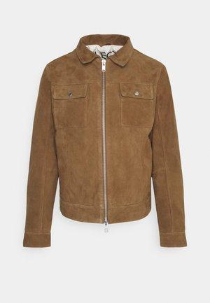 SLHICONIC BLOUSON - Leather jacket - rubber