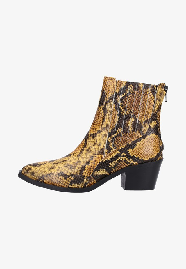 Classic ankle boots - yellow python