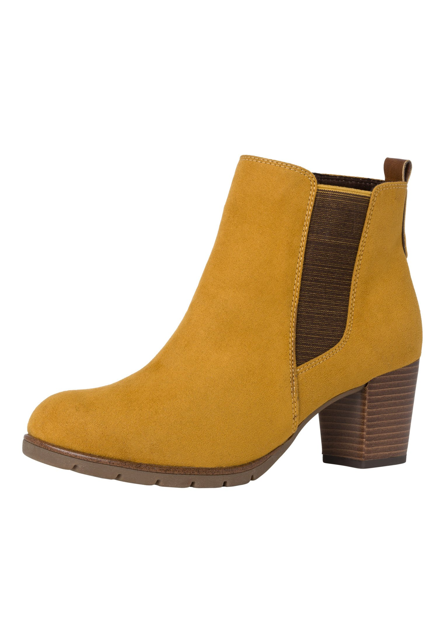 Marco Tozzi STIEFELETTE Ankle Boot mustard comb/gelb