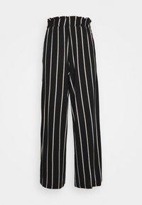 TOM TAILOR DENIM - PAPERBAG CULOTTE WITH POCKETS - Trousers - black/beige - 0