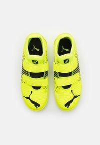Puma - FUTURE Z 4.1 TT V JR UNISEX - Astro turf trainers - yellow alert/black/white - 3