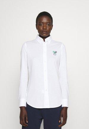 Button-down blouse - pure white
