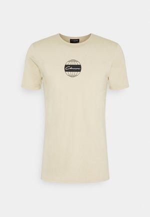 GLOBAL TEE - Print T-shirt - stone