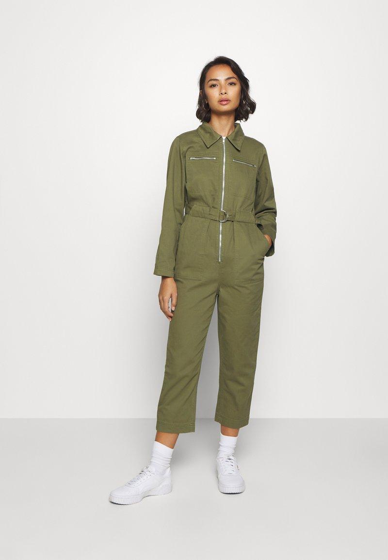 Topshop Petite - MABEL BOILER - Jumpsuit - khaki