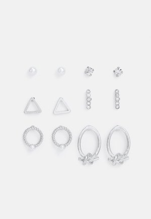 ONLVICTORIA EARRING 6 PACK - Náušnice - silver-coloured