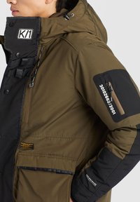 khujo - NANDU - Winter jacket - oliv-schwarz kombo - 8