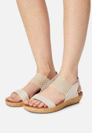 BRIE - Platform sandals - nude sparkle