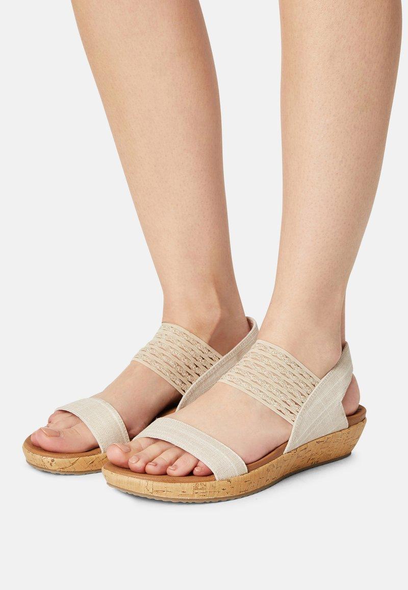Skechers - BRIE - Platform sandals - nude sparkle