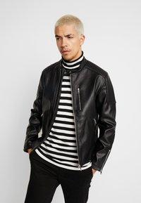 Jack & Jones - JCODERRICK  - Faux leather jacket - black - 0