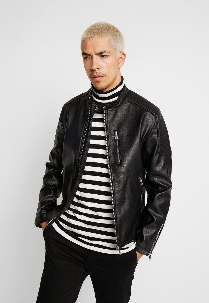 Jack & Jones - JCODERRICK  - Faux leather jacket - black