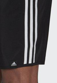 adidas Performance - 3 STRIPES CLASSICS PRIMEGREEN SWIM SHORTS - Shorts da mare - black/white - 3