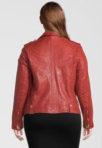 Gipsy - GGFAMOS CF LAMAXV - Leather jacket - red - 1