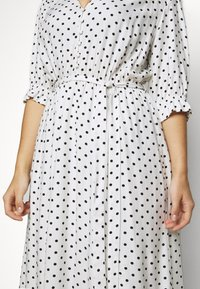 City Chic - DRESS SPOTTY TIER - Shirt dress - white - 5