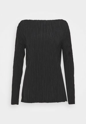 BLOUSE - Blus - black dark