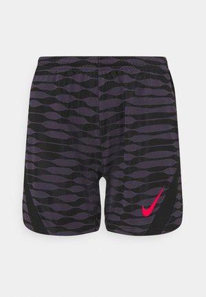 SHORT - Sports shorts - dark raisin/black/siren red