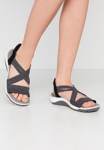 REGGAE CUP - Walking sandals - black/grey gore