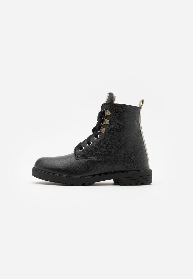clic! - Šněrovací kotníkové boty - black