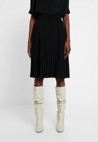 Anna Field - Plisse A-line mini skirt - A-line skjørt - black - 0