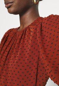 Closet - MIDI GATHERED NECK DRESS - Day dress - rust - 5