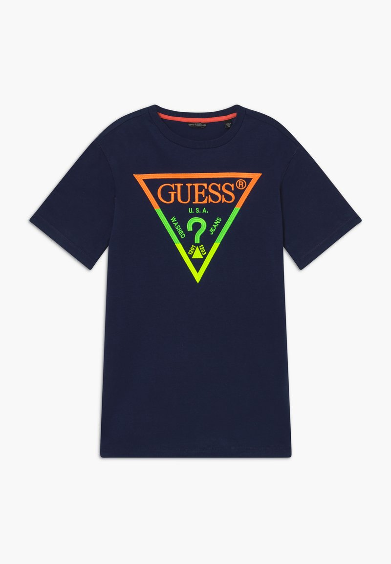 Guess - JUNIOR - Camiseta estampada - dark blue
