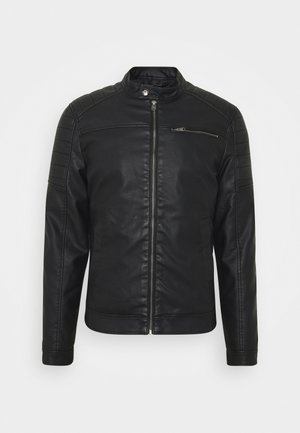EAGLE - Faux leather jacket - black