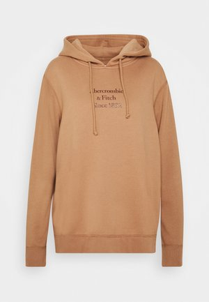 GEL LOGO SNAP POPOVER - Luvtröja - brown
