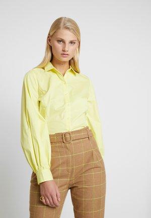 ALVA - Button-down blouse - limelight