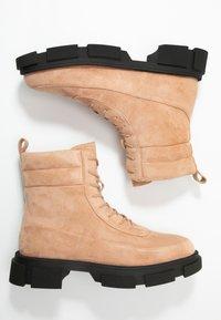 Glamorous Wide Fit - Kotníkové boty na platformě - tan - 3