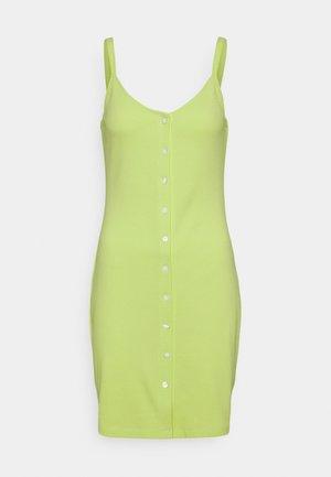 BUTTON THRU DRESS - Shift dress - faded lime