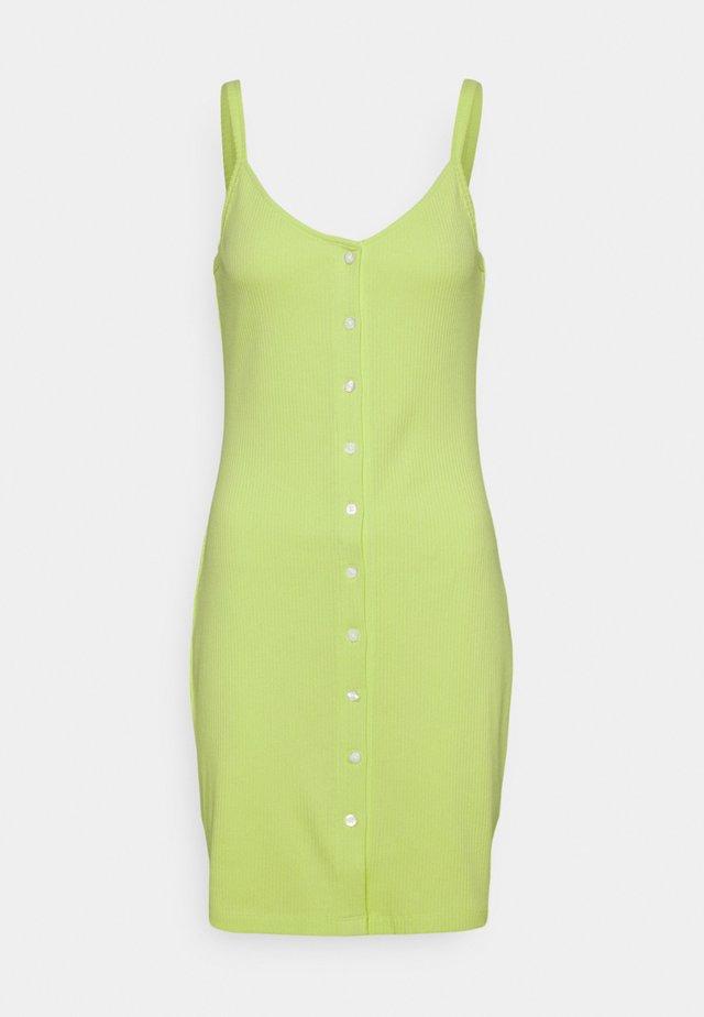BUTTON THRU DRESS - Etui-jurk - faded lime