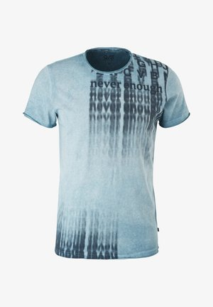 Print T-shirt - light blue