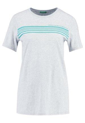 ROUND NECK TEE LOGO - T-shirt z nadrukiem - grey