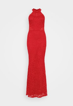ARYA HALTER NECK DRESS - Occasion wear - red