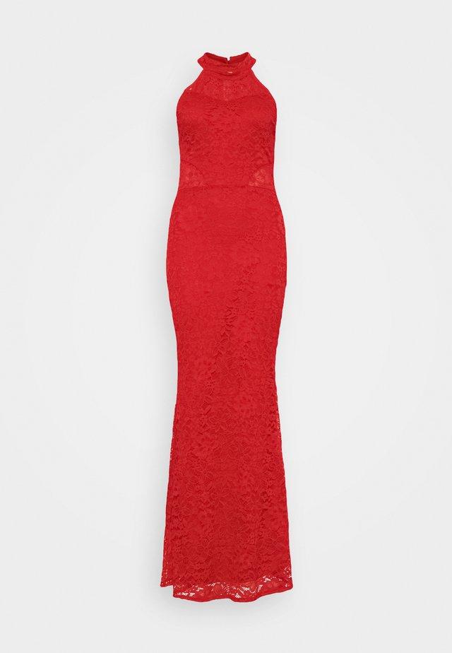 ARYA HALTER NECK DRESS - Occasion wear - red