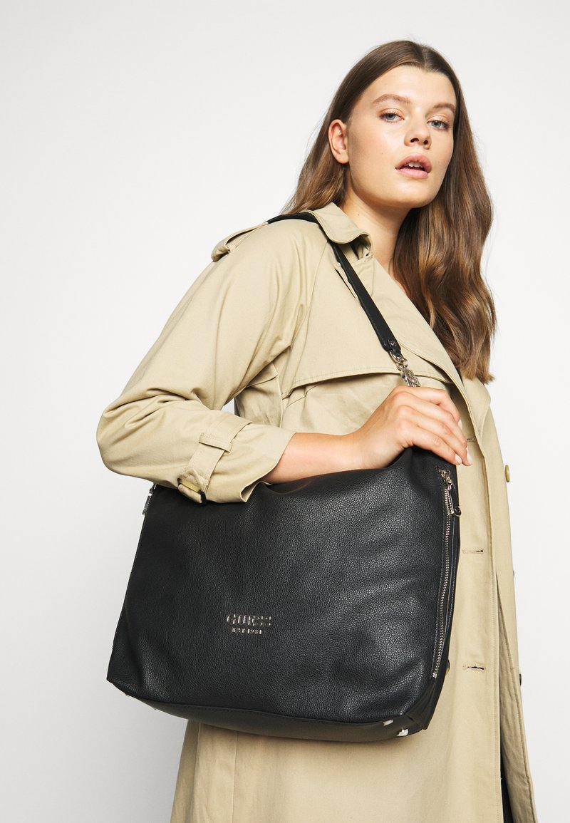 Guess - CHAIN LARGE HOBO - Tote bag - black