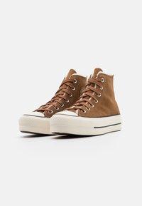Converse - CHUCK TAYLOR ALL STAR LIFT - Zapatillas altas - clove brown/egret/black - 2