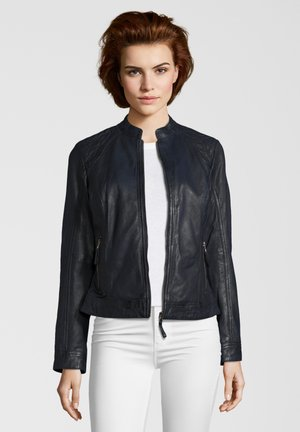 Leather jacket - navy