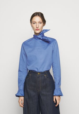 NECK TIE - Blouse - fresh blue