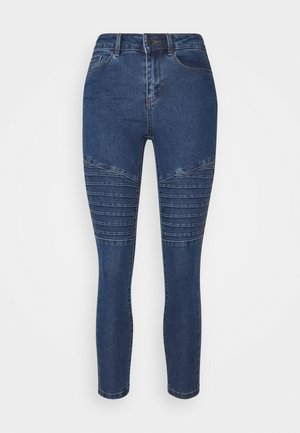 VMHOT SEVEN MR BIKER PANTS - Jeans Skinny Fit - medium blue denim