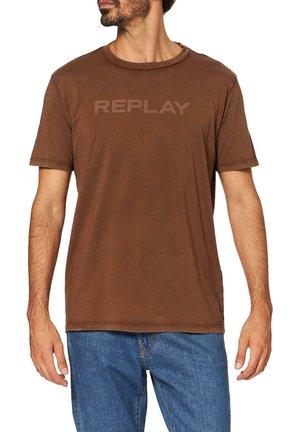 Print T-shirt - braun hell