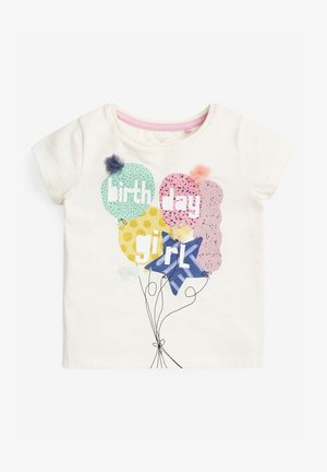 BIRTHDAY GIRL - Print T-shirt - off-white