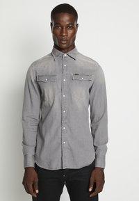 3301 SLIM SHIRT L\S FADED DUST GREY MEN - Shirt - faded dust grey