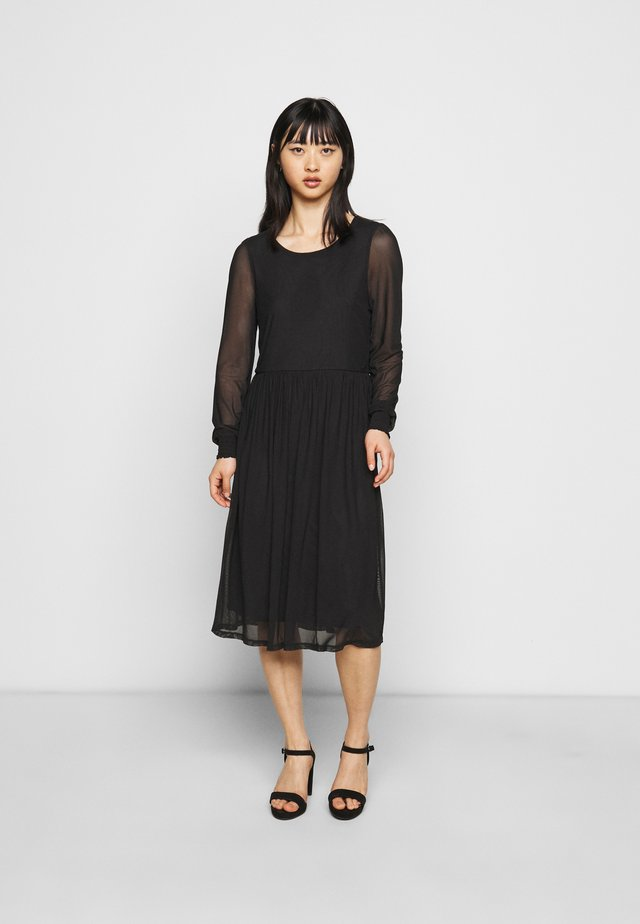VIVOLETTE MIDI DRESS - Day dress - black