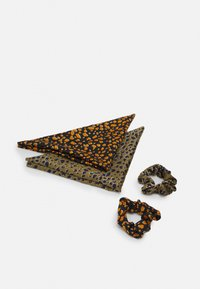 Pieces - PCNAIJA BOW SCRUNCHIE 2 PACK - Hair styling accessory - navy blazer/green - 1