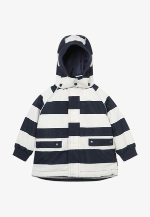 STRIPE JACKET BABY - Winter jacket - navy