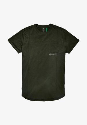 LASH POCKET BACK GRAPHIC - Print T-shirt - raven